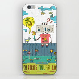 Even robots fall in love iPhone Skin