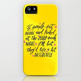 Look at the Stars - Yellow, Pink & Blue iPhone Case