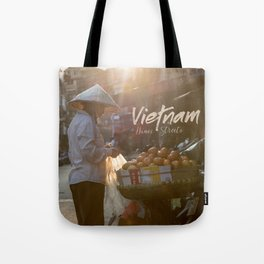 Vietnam street market Tote Bag