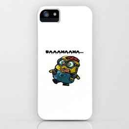 Minion zombie iPhone Case