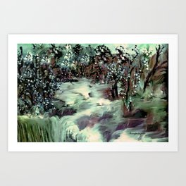 THE FLOODED VALLEY Art Print