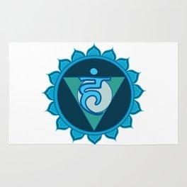 Vushuddha Throat Blue Chakra Rug