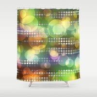 the lights Shower Curtains featuring Lights by Tony Vazquez