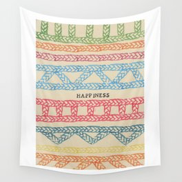 HAPPINESS ELM THE PERSON Wall Tapestry