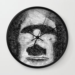 Easter island - Moai statue - Ink Wall Clock