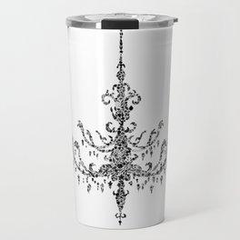 Floral Chandelier Black and White Travel Mug