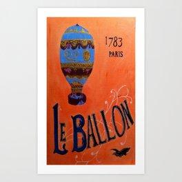 Le Ballon 1783 Art Print