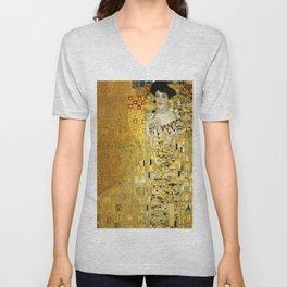 """Gustav Klimt """"Portrait of Adela Bloch-Bauer I"""" Unisex V-Neck"""
