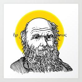 St. Darwin Art Print