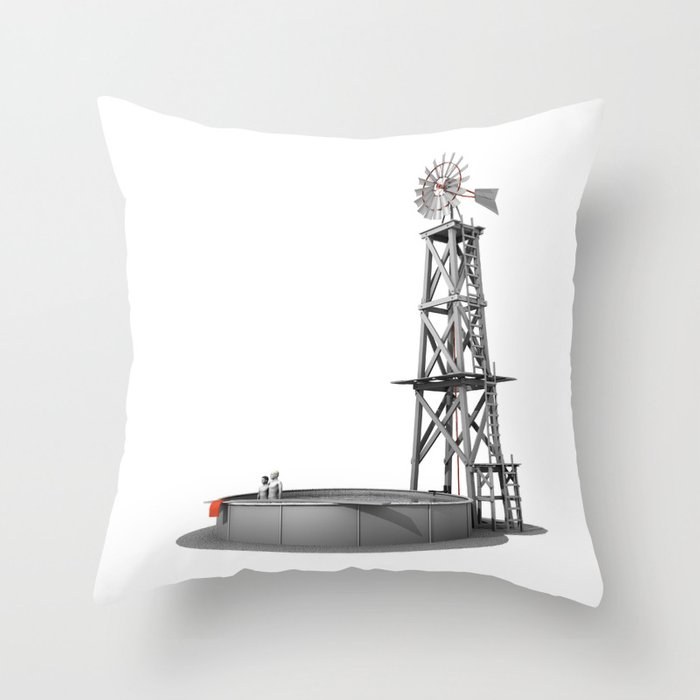 Standing Here Throw Pillow