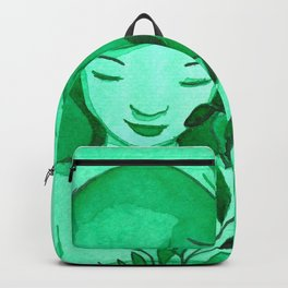 mutual green love Backpack
