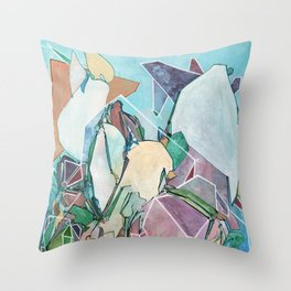 Coral Diadems Throw Pillow