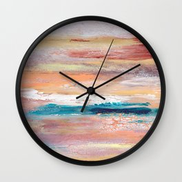 Rock Study in Pinks Wall Clock