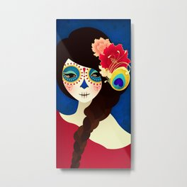 Muertita ~ Candy Metal Print