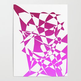 geometical pink abstract shapes Poster