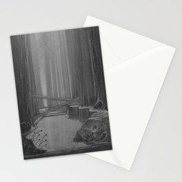 Charcoal Forest Stationery Cards
