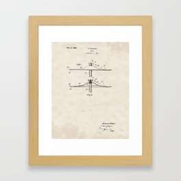 Cymbal Vintage Patent Hand Drawing Framed Art Print