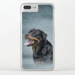 Rottweiler dog Clear iPhone Case