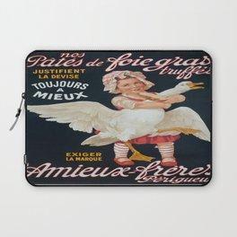 Vintage poster - Pates de Foie Gras Laptop Sleeve