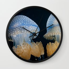 Double Blue Jellyfish - Underwater Photography Wall Clock