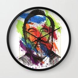 Man of many colors Wall Clock