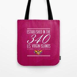 Established in the 340/USVI - Pink Tote Bag