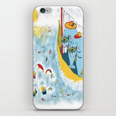 Look, honey!...the humans are migrating again!!! iPhone Skin