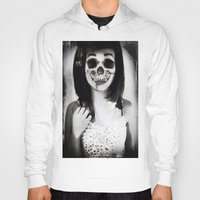 rockabilly Hoodies featuring rockabilly skull portrait by Joedunnz