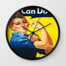 Vintage poster - Rosie the Riveter Wall Clock