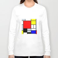 mondrian Long Sleeve T-shirts featuring Mondrian by Dizzy Moments