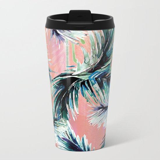Pink tropical haze Metal Travel Mug