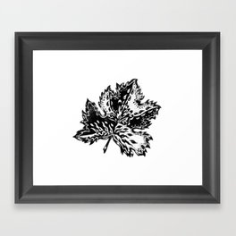 AfetMirzayeva Graphic Ink illustration drawing abstract leaf nature Framed Art Print