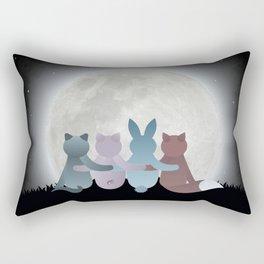 Moon Gathering Rectangular Pillow