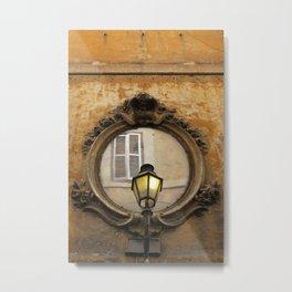 Rome Mirror View Metal Print