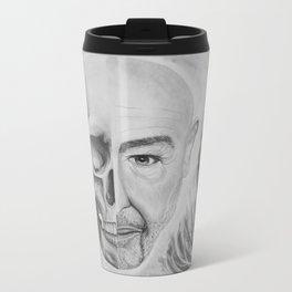 Skull/Face Metal Travel Mug