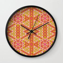 Flower of Life Pattern 45 Wall Clock