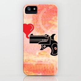 Pistol Blowing Bubbles of Love iPhone Case