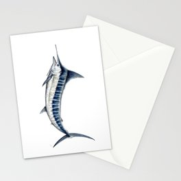 Blue Marlin (Makaira nigricans) Stationery Cards