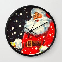 Jolly Saint Nick Wall Clock