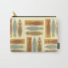Fish In A Midcentury Modern Style Carry-All Pouch