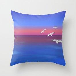 Where the ocean meets the sky Throw Pillow