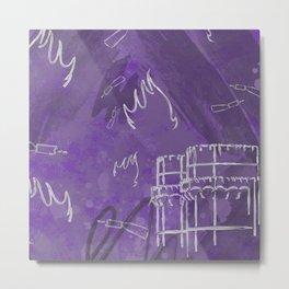 A la luna de Valencia - Purple Metal Print