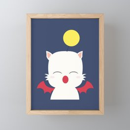 Mog the Moogle Glitz Framed Mini Art Print