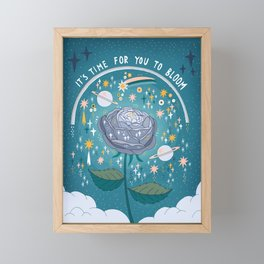 It's time for you to bloom Framed Mini Art Print