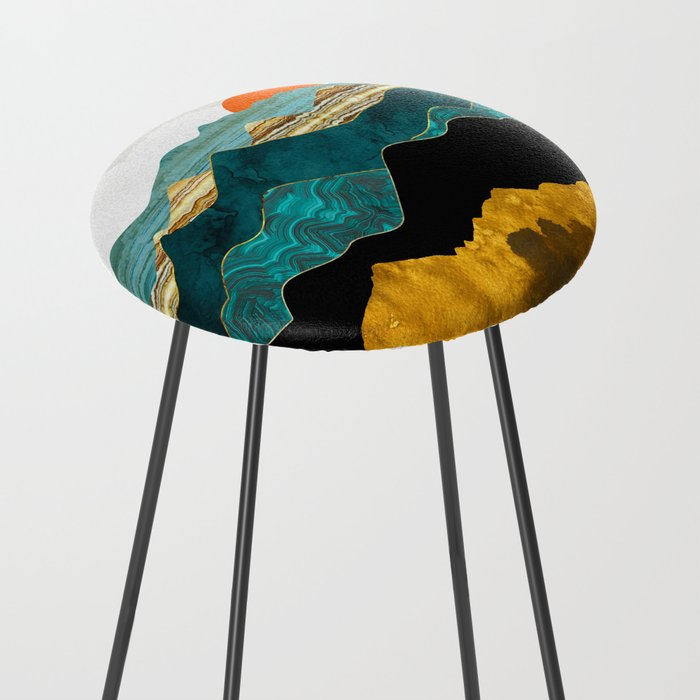 Turquoise Vista Counter Stool