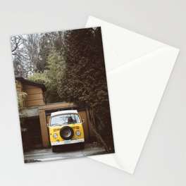 Yellow Van Ready For Road Stationery Cards