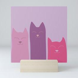 Tres Gatos Mini Art Print
