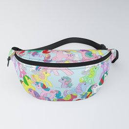 g1 my little pony characters collage repeated pattern Fanny Pack