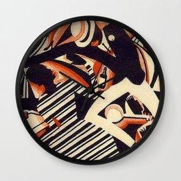 Harlem Renaissance Masterpiece 'Interpretation of Harlem Jazz 1' by Weinold Reiss Wall Clock