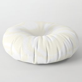Liquid Swirl Contemporary Abstract Pattern in Barely-There Pale Beige and Light Cream  Floor Pillow